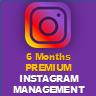 Premium Instagram Management subscribe for 6 months - Premium Instagram Management subscribe for 6 months