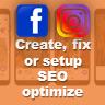 Create, fix or setup SEO optimize facebook shop, instagram shop, facebook fan page - Profile Setup & Integration